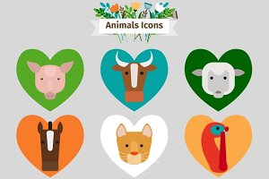 Farm animals and pets avatars
