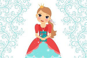 Little Princess happy birthday card