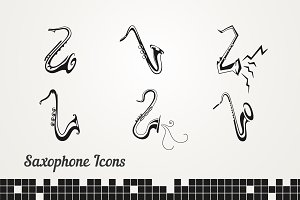Set saxophones sign for design.