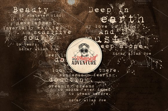 Edgar Allan Poe Quotes in Photoshop Brushes - product preview 1