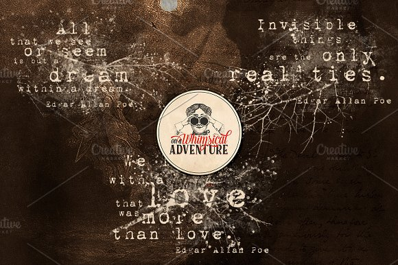 Edgar Allan Poe Quotes in Photoshop Brushes - product preview 2