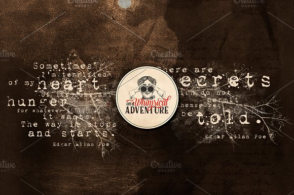 Edgar Allan Poe Quotes in Photoshop Brushes - product preview 3