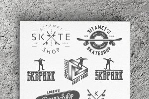 Skateboarding design elements