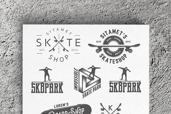 Skateboarding design elements