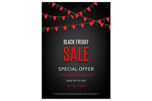 Design of the flyer of Black Friday