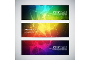 Geometric abstract banners