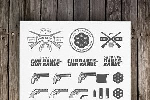 Clay target and gun club emblems
