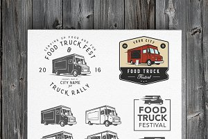 Food truck emblems & design elements