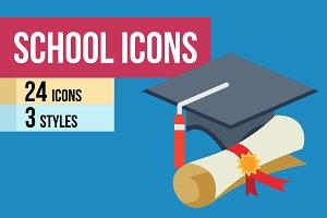 24 School Icons