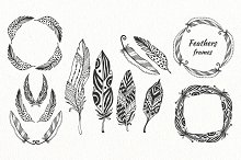Vector feathers pack