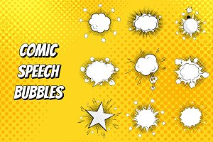 Set of comic speeches bubbles