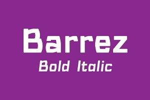 Barrez Bold Italic