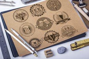 9 Vintage brewery beer logos
