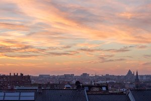 Sunset in Brussels, Belgium