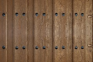 Texture of the wooden door