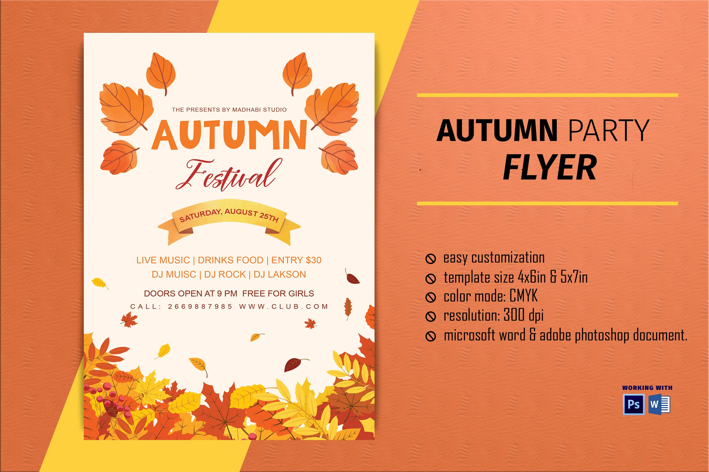 Free Fall Flyer Template from images.creativemarket.com
