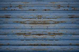 Blue metal sheet texture.