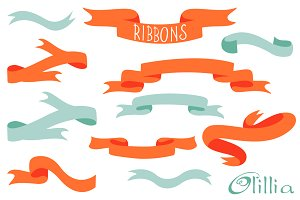 Hand drawn ribbons