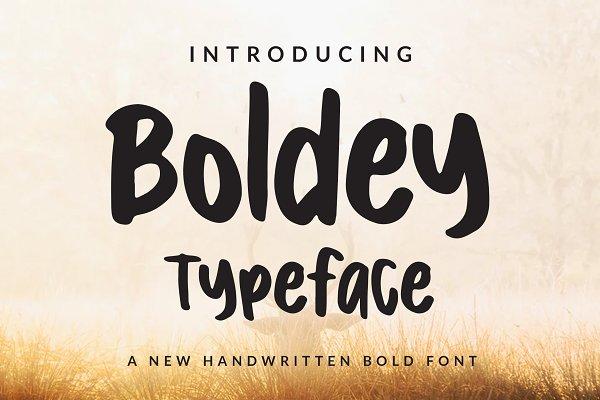 Boldey Typeace - A New Handwritten B