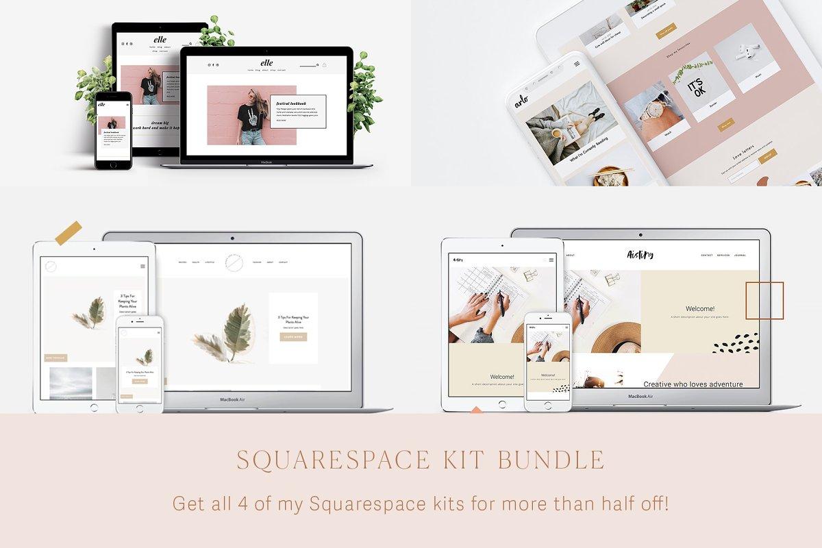 5797ec7525635 Squarespace Kit Bundle ~ Website Templates ~ Creative Market