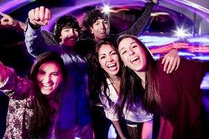 People having fun in a club
