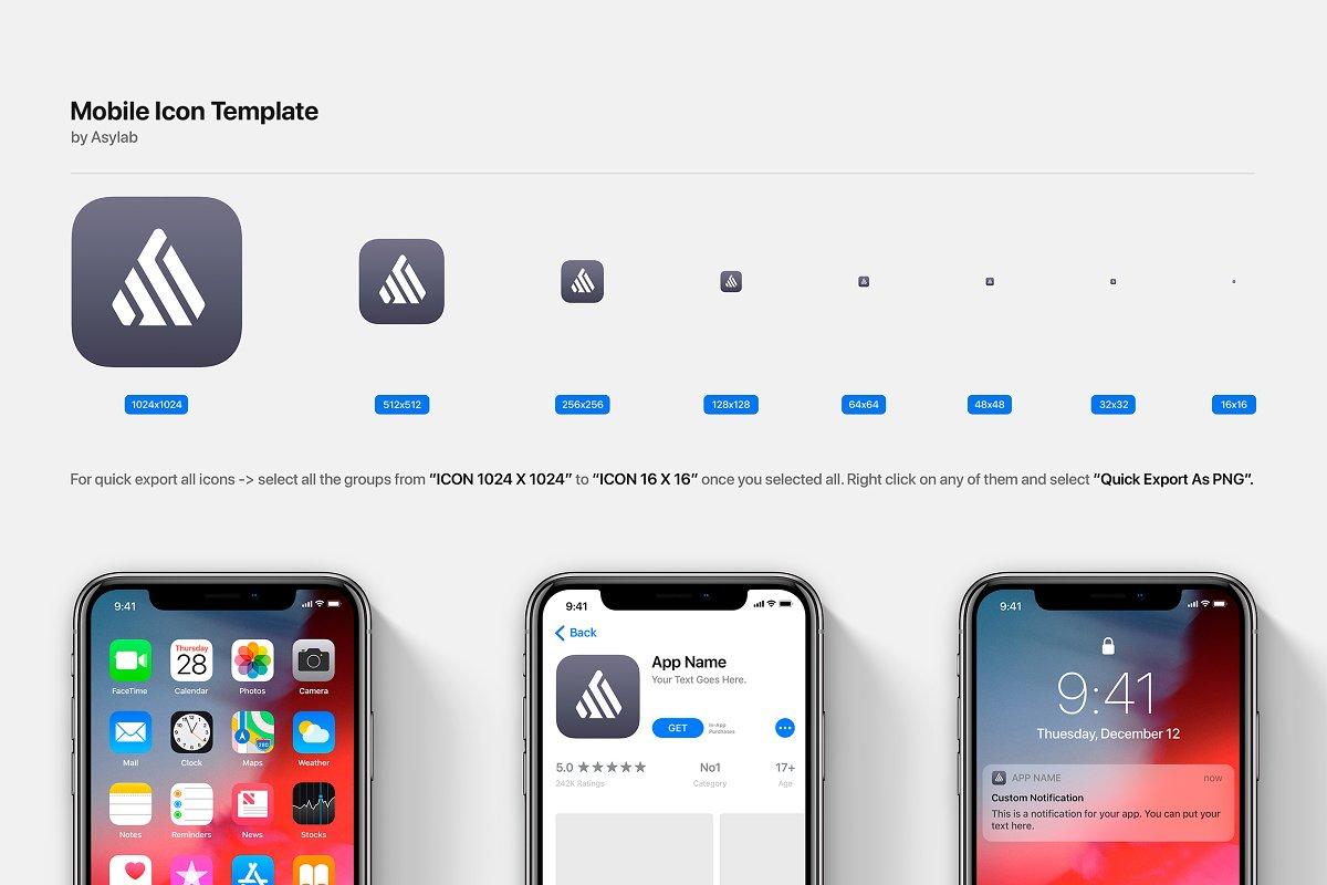 Mobile Os Icon Template Mockup Psd Creative Mobile Web