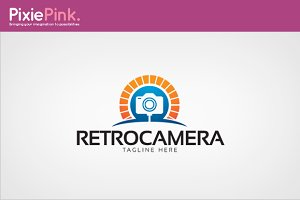Retro Camera Logo Template