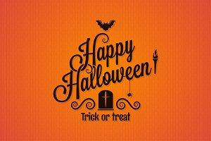 halloween vintage lettering ornate