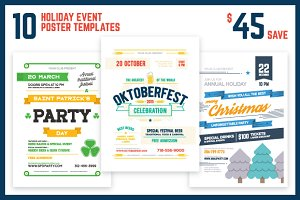 Holiday Event Poster Bundle