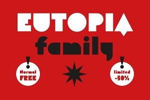 Eutopia Typeface (7 Fonts)