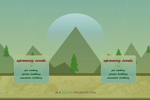 Gradient Mountain Illustration