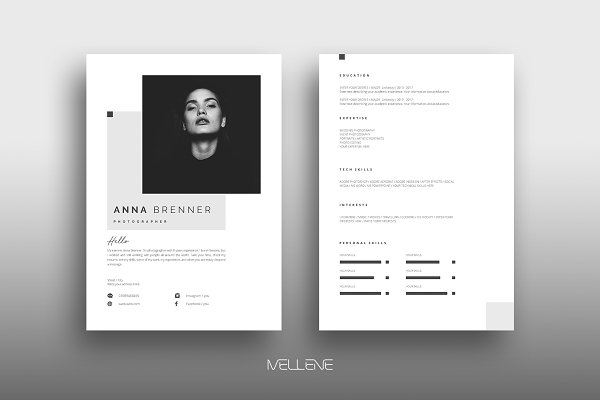Cv Resume Template from images.creativemarket.com