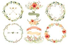 Natural Floral Wreaths II