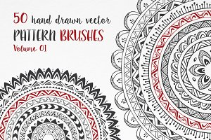 Hand Drawn Pattern Brushes Vol. 01