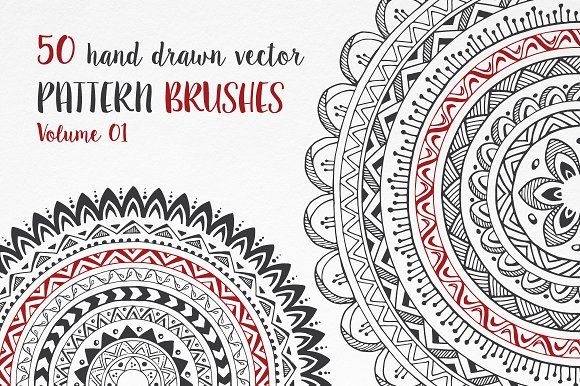 Hand Drawn Pattern Brushes Vol. 01 - Brushes