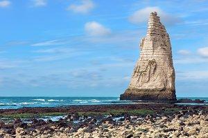 Famous Etretat rocks in the ocean