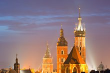 Krakow view with St. Mary's Church