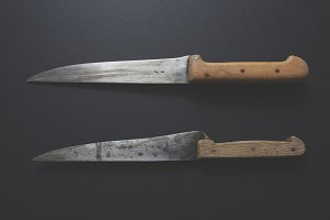 Old kitchen knives