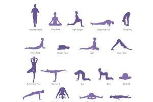 yoga exercise  customdesigned illustrations  creative