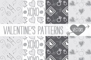 Valentine's patterns (vector)