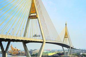 The Bhumibol Bridge,Bangkok,Thailand