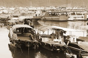 Fisherman's boats at Aberdeen, HK
