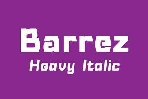 Barrez Heavy Italic