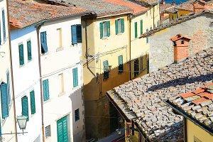 Traditional Italian street, Cortona