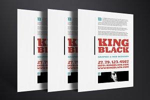 King Black Resume Template