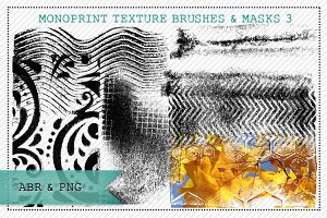 Monoprint Texture Brushes & Masks 3