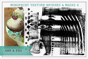 Monoprint Texture Brushes & Masks 4