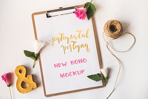 Boho mock up for presentation
