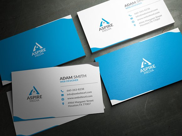 Simple Clean Business Card Template Business Card Templates - Template business cards