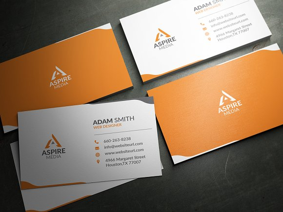 Simple clean business card template business card templates simple clean business card template business card templates creative market reheart Gallery